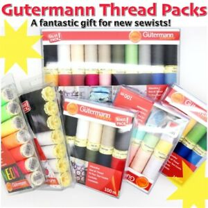 Gütermann Thread PACKS 100m Reels of Sew-All and Cotton Machine Sewing Thread