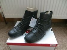 BNIB LADIES SIZE 4 EU 37 100% LEATHER UPPER ANKLE BOOTS BY RIEKER