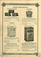 1923 PAPER AD Corona Wool Fat Compound Tin Can Lanolin North Carolina Pine Tar