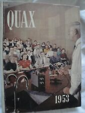 1953 QUAX ANNUAL YEARBOOK DRAKE UNIVERSITY LARGE HARDCOVER DES MOINES IOWA