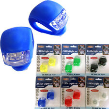 2Pc Ultra Bright Waterproof Silicone Led Bike Light Led Front Rear Light Bicycle