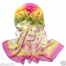 STOCK Hot Sale Hot Pink Chiffon Long Soft Wrap/Shawl/Scarf Scarves/Wraps/Shawls