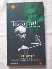 2 CD ARTURO TOSCANINI 1 BEETHOVEN Sinfonia 9 concerti per pianoforte 3 e 4