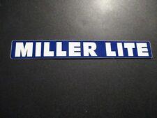"MILLER LITE tap handle blue strip 8.5"" STICKER decal craft beer brewery brewing"