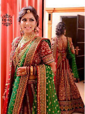 Beautiful Red Green Lehenga Choli Designer Bollywood Indian Bridal Wear Wedding