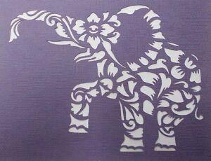 Scrapbooking - STENCILS TEMPLATES MASKS SHEET - Elephant Flourish Stencil