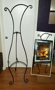 """Custom Made Whimsical Wrought Iron Art Easel Stand 70"""" x 25"""""""