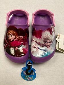 Disney Frozen Girls Crocs - light up
