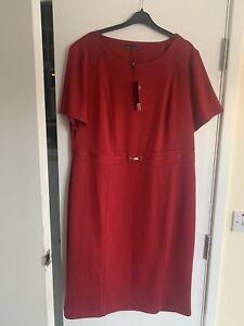 Bnwt Red Ladies David Emanuel Dress Size 22