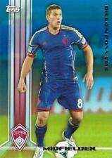 2013 Topps Major League Soccer Base Common Card Blue Parallel /50 (#21 - #40)