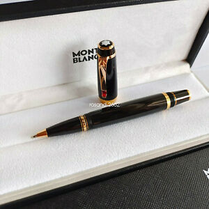 New Luxury MB Bohemia Gold and Black Fineliner / Rollerball Pen Without Box