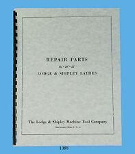 "Lodge & Shipley Lathe Models 18"", 20"", & 22""  Repair Parts Manual  *1088"