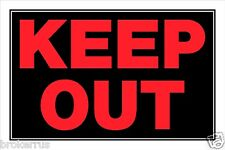 """KEEP OUT SIGN 8"""" x 12"""" Red Plastic Door Entrance Property Warning Hillman 839898"""