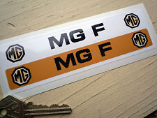 MG F Number Plate Dealer Logo Cover Stickers. Classic Car Vintage MGF