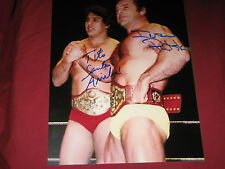 Wwe,Wwf Hall Of Fame Legends Tito Santana & Ivan Putski Autographed 8X10 W/Coa