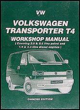 VW Transporter Eurovan Van Shop Manual 1990 1991 1992 1993 1994 1995 Volkswagen