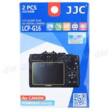 JJC LCD Guard Film Camera Screen Display Protector For Canon Powershot G16 G15