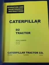 Cat Caterpillar D2 Operators manual book dozer 5U 4U  FORM 10953-10