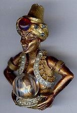 HAR VINTAGE 3D GENIE FORTUNE TELLER WITH CRYSTAL BALL PIN