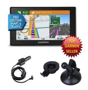 Garmin 50LMTHD DriveSmart GPS Bundle, Free N American Maps, Car Charger