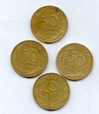 Lot de 4 pieces de 50 centimes marianne differentes