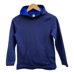 Old Navy Boys Active Lightweight Hoodie Navy Blue Waffle Textured Blue Lg 10-12