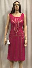 Authentic Alberta Ferretti Scoop Neck Patterned Dress Sz. 8 w/ Tags $2,950