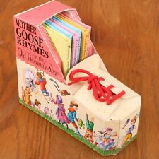 Mother Goose Rhymes 6 Miniature Books In The Old Woman's Shoe