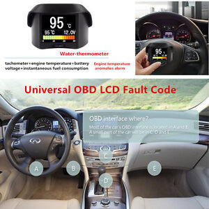 1xUniversal Multi-Function Car Truck OBD Smart Digital Trip Computer Fault Code