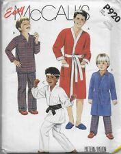 McCall's Sewing Pattern P920 / 2054 Boys' Robe, Pajamas, Karate Uniform 10-12