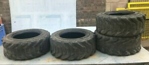 x4 Outrigger forklift tyres. 10-16.5 NHS. Partly worn.
