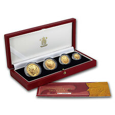 2003 4-Coin Gold Britannia Proof Set (w/Box & COA) - SKU #59983