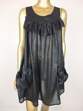 GORMAN DRESS BLACK SHEER FRILL TUNIC SKIRT DRESS - S