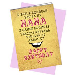 BIRTHDAY CARD Funny Cheeky Rude to Nana #989