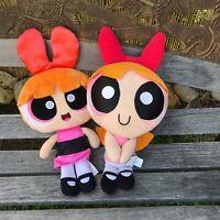 Lot Of 2! Vtg Powerpuff Girls Pink Blossom Stuffed Plush - Cartoon Network Show
