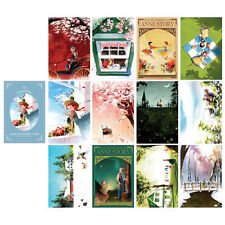 "Anne of Green Gables Postcard Book 3.9"" x 5.9"" 12 Postcards & 5 Envelopes Illust"