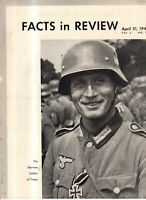 1941 Facts in Review - Nazi, German, Letter from Hitler to Southern Front;Balkan