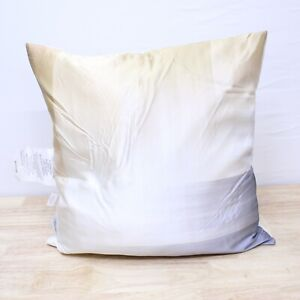 """Lux Life Home 20"""" Square Decorative Pillow Silk Cover & Feather Fill D0Z259"""
