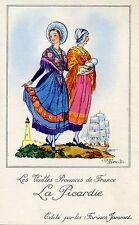 CARTE CHROMO PUB /JEAN DROIT / LES VIEILLES PROVINCES DE FRANCE / LA PICARDIE