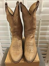 Men's Dan Post 6557 Beige Soft Style Leather Usa Cowboy Western Boot Size 9.5 EW
