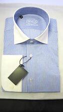 "Cutaway Collar shirt, royal Blue/ White Stripe, sizes 15"",15.5"" only."
