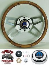 """1961-1966 DART steering wheel MOPAR Grant 13 1/2"""" WALNUT 4 SPOKE steering wheel"""