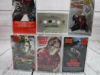 Cassette Tape Lot x6 MOTLEY CRUE OZZY OSBOURNE TWISTED SISTER QUIET RIOT Metal