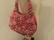 Vera Bradley  Pink Floral Tote Shoulder Bag Double Handle Muliple pockets