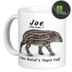 Personalised BAIRD'S TAPIR  CALF MUG Cup & Coaster. Add Name and Text - IL 7323