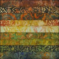 LOT OF 9 FAT QUARTERS AUTUMN SPLENDOR BATIKS LUNN FABRICS SPECIAL FAT QUARTER