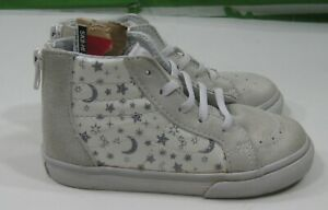 Baby Vans vnoa32r3os9  white moon and stars leather sneaker high  Size 10 C