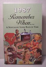 30th Birthday / Anniversary - 1987 Remember When Nostalgic Book Card  - NEW