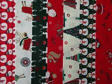 14 JELLY ROLL STRIPS 100% COTTON PATCHWORK FABRIC CHRISTMAS