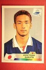 PANINI WC WM FRANCE 98 1998 N. 524 JAPAN NAKATA WITH BLACK BACK MINT!!